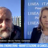 Chiude Pinifarina Engineering - manifestazione ai cancelli