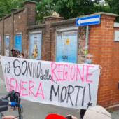 Il generale Figliuolo contestato a Torino da un gruppo di free vax