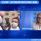 """""""Io apro"""": i ristoratori protestano a Roma"""