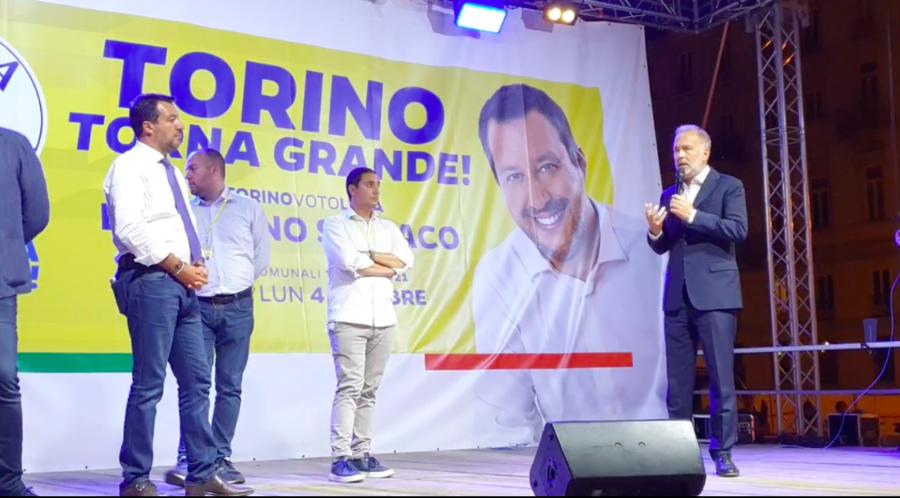 Salvini a Torino: chiuderemo i giochi al primo turno