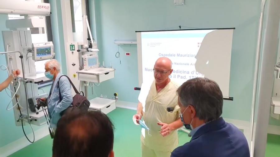 Torino, ospedale Mauriziano: inaugurata nuova terapia intensiva presso Medicina d'urgenza