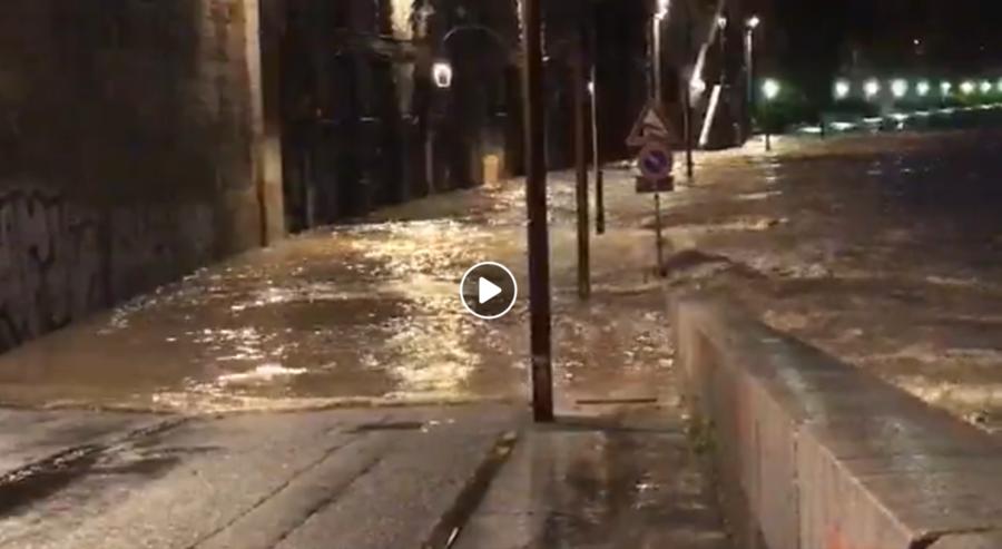 Situazione del fiume Po ai Murazzi di Torino