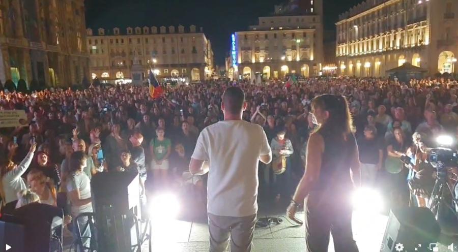 """La """"Variante Torinese"""" in piazza Castello a Torino"""