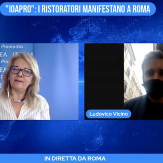 """Ioapro"": i ristoratori manifestano a Roma"