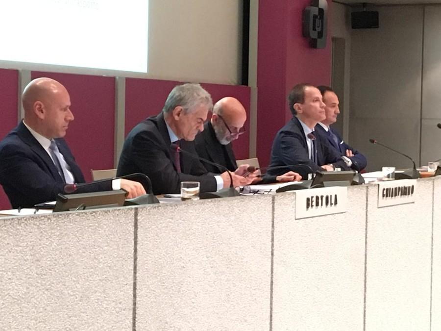 Giorgio Bertola, Sergio Chiamparino, Alberto Cirio, rispondono alle domande degli imprenditori