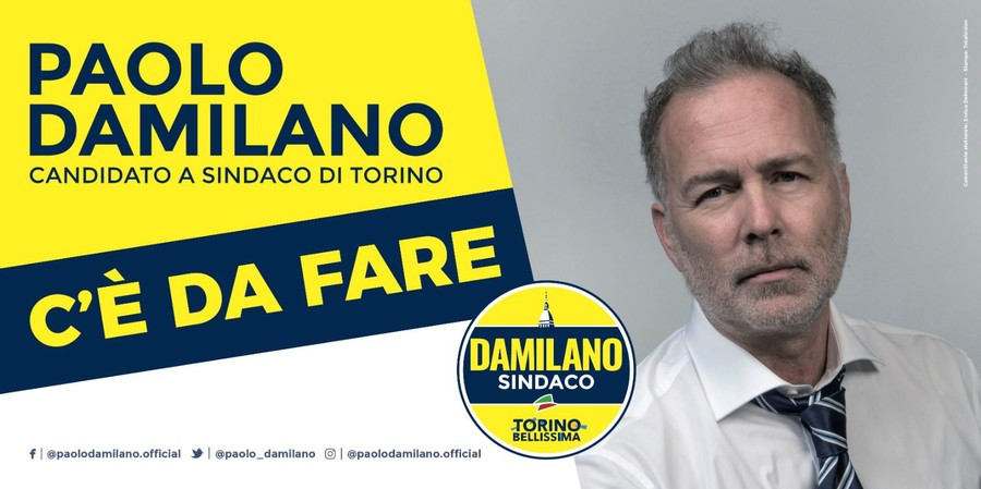 """""""Torino Bellissima"""" esce per le strade di Torino. Al via campagna affissioni del candidato Damilano"""